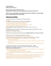 ISB 200 Fall 2015 study guide for exam 2.docx