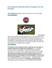 ICS Analytics Identifies Best Prospects for the Fiat 500