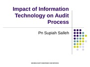 Topic 8 - Impact of Information Technology on Audit Process