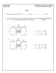 Quiz 33 Solution on Linear Circuit Analysis II