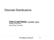 Chapter 6 Discrete Distributions