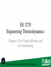 Engineering Thermodynamics - Gas-Vapour Mixture  Air-Conditioning