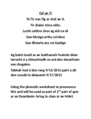 obair bhaile 2 2015- pronunciation level 1(1) (1)