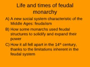 16         Feudal monarchy in England 2010