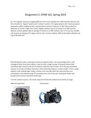 Assignment 2 - OPIM 101 - Spring 2014