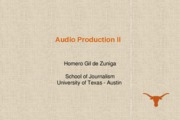 J321 C Class Presentation 7_Audio Production II
