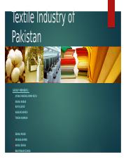 Textile Industry of Pakistan Fareeha.pptx
