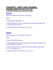TANGENT LINES AND NORMAL PROBLEMS IN MATHS.pdf