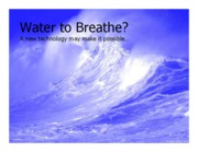 OXYGEN FROM WATER-POWERPOINT