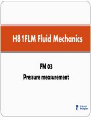 FM 03 Pressure measurement