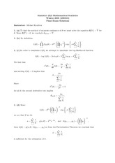 STATS 252 Winter 2006 Final Exam Solutions
