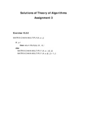 Solutions of Theory of Algorithms assignment15.2-2