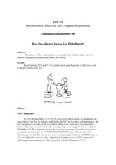 ECE 115 - Experiment 6 - How Electric Energy Gets Distributed