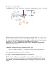 Homework 3 Solution Manual