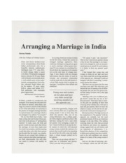 Arranging a Marriage in India - Nanda