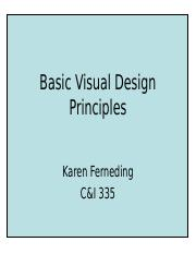 Basic visual design principles