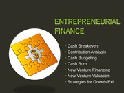 Lecture 9 - Entrepreneurial Finance