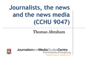 Lecture 2 (20150128) - How journalists work and how news is made