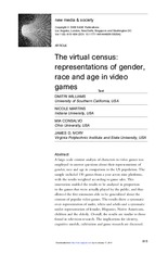3.Williams D., Martins N., Conslavo M., & Ivory, J. (2009) The virtual consensus representations of