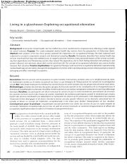 Living in a glasshouse - Exploring occupational alienation.pdf