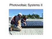 Photovoltaic Systems II