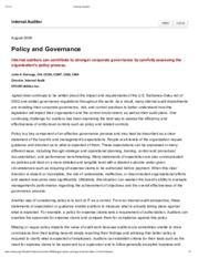 Policy and Governance article