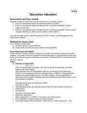 CH 8 - Securities Valuation.docx