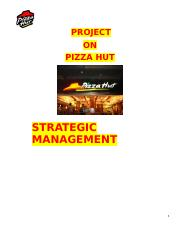 project on pizza hut