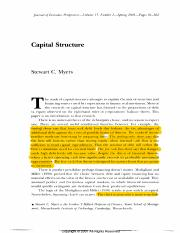 Capital Structure Myers