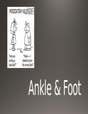 ankle & foot part 2 - 303.pptx