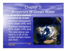 Ch.3 Properties of Ocean Water