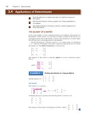Applications of Determinants