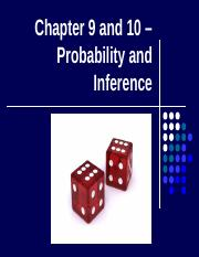Ch 9 and 10 - Probability and Intro to Hypoth Testing - Copy.pptx