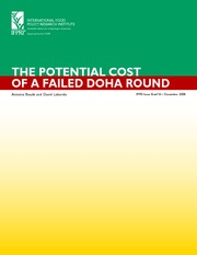 Bouet & Laborde,The Potential Cost of a Failed Doha Round[1]