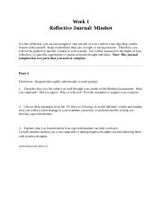 Week 1 Mindset Reflective Journal Template.docx