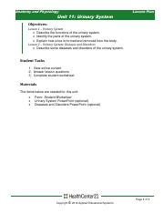 Urinary System Unit 11 lesson plan 042020.pdf