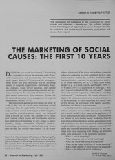 Journal of Marketing - The Marketing of Social Causes