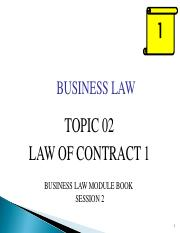 BUS115Jan2017_Topic 02 - Contract 1