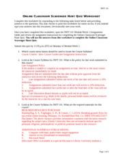 inft scavenger hunt quiz essay example