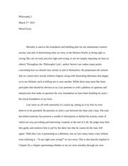 Morality Essay (Final)