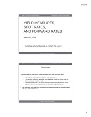 Yield Measures, Spot Rates, and Forward Rates