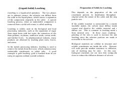 Material on leaching