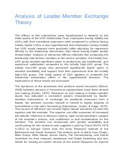 Analysis of Leader-Member Exchange Theory.docx