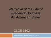 6. Frederick Douglass, Narrative of the Life An American Slave