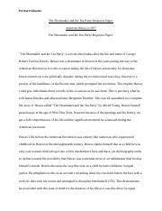 The Shoemaker and the Tea Party Response Paper.docx