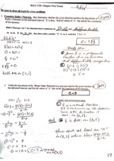 MAT 1730 (Calculus) - Chp. 4 Exam