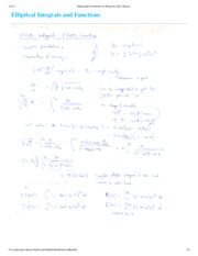 Elliptical Functions Notes