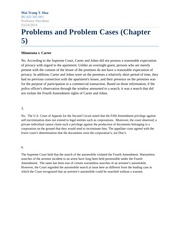 Homework Problems and Problem Cases (Chapter 5)