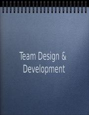 7 - Team Design and Process