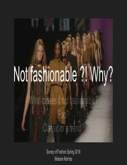 Not fashionable -! Why- (1)